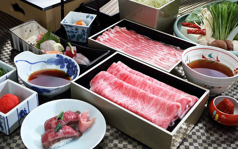 白金豚・近江牛 食べ比べ宴会プラン
