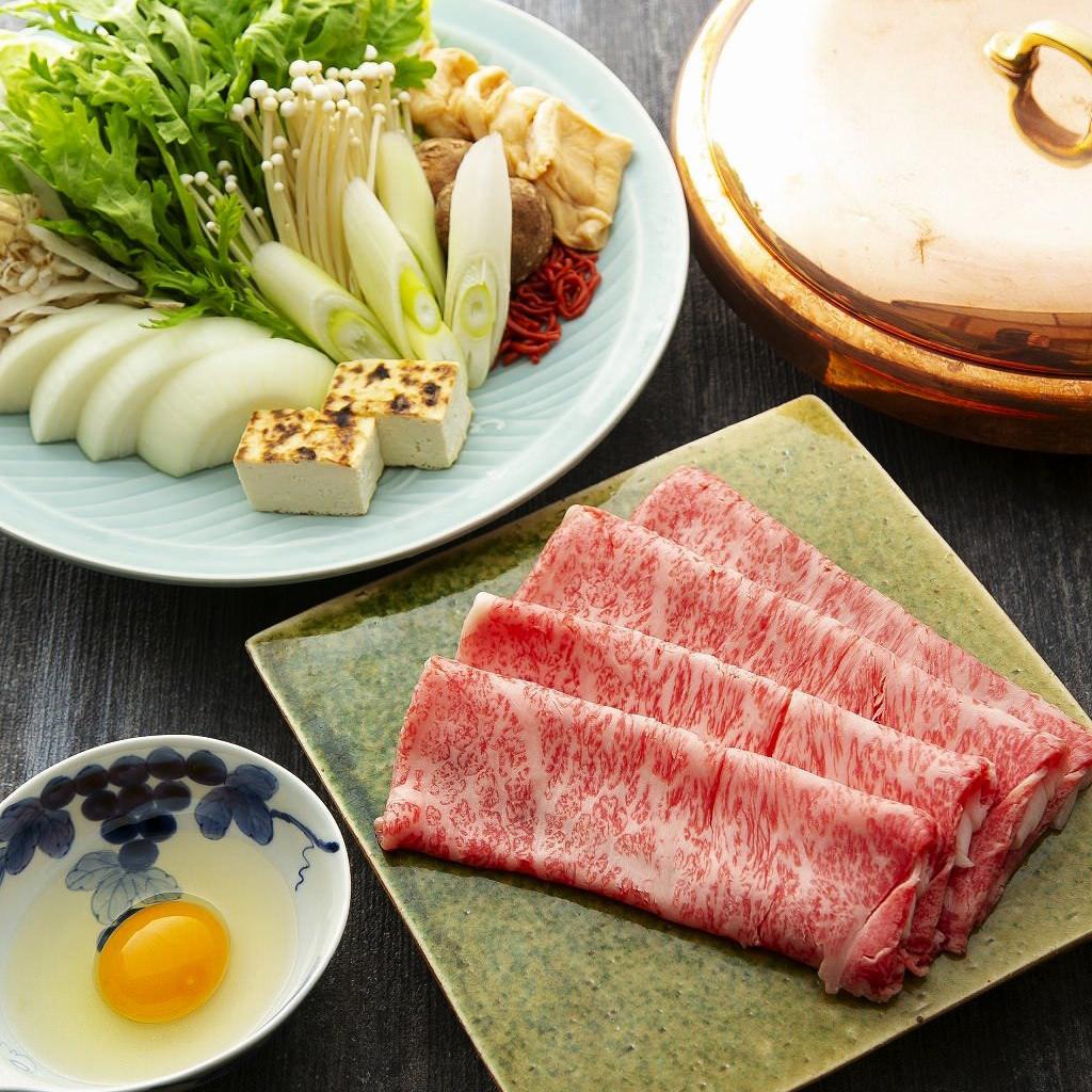 【2階お座敷】近江牛とおばんざいを楽しむ宴会『近江牛すき焼き』